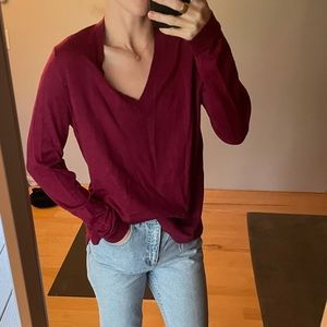 Eileen Fisher wool v neck sweater